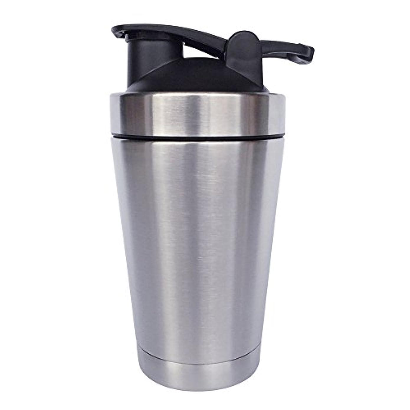 計画的経験者不毛ステンレス鋼 スポーツウォーターボトル タンパク質ミルクセーキシェーカー?カップ 振ってボール 小さいサイズ 500ml