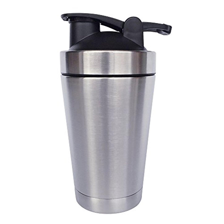 ゴシップモザイク農業ステンレス鋼 スポーツウォーターボトル タンパク質ミルクセーキシェーカー?カップ 振ってボール 小さいサイズ 500ml