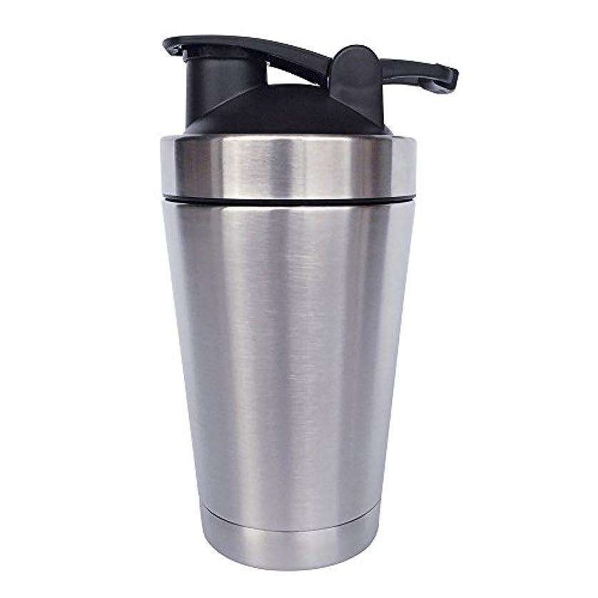 不毛のペイン補うステンレス鋼 スポーツウォーターボトル タンパク質ミルクセーキシェーカー?カップ 振ってボール 小さいサイズ 500ml