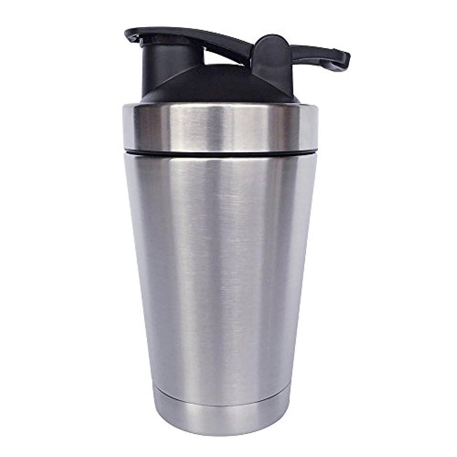 グラムめまいマットレスステンレス鋼 スポーツウォーターボトル タンパク質ミルクセーキシェーカー?カップ 振ってボール 小さいサイズ 500ml
