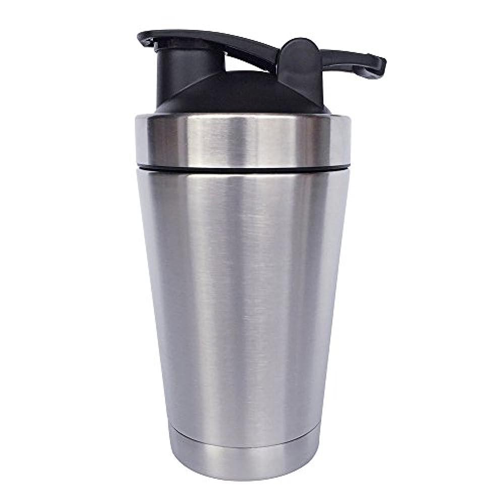 苗収穫ファセットステンレス鋼 スポーツウォーターボトル タンパク質ミルクセーキシェーカー?カップ 振ってボール 小さいサイズ 500ml
