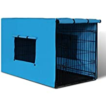 """42"""" Folding Collapsible Portable Dog Cage w/ Cover Pet Crate Puppy Metal Kennel"""
