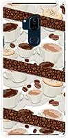 液晶保護フィルム 付 アンドロイド ワン エックスファイブ Android One X5 Y!mobile ハードカバー ケース コーヒーとコーヒー豆 スマホケース スマホカバー デザインケース