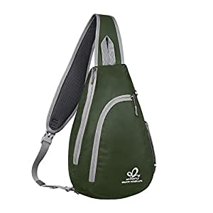 WATERFLY(ウォーターフライ) ワンショルダーバッグ ボディバッグ 斜めがけバッグ 軽量 大容量 メンズ レディース グリーン