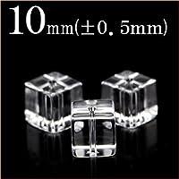 t2094 <AAAAA級 透明水晶(クォーツ)>キューブ型ビーズ 10mm 10033119