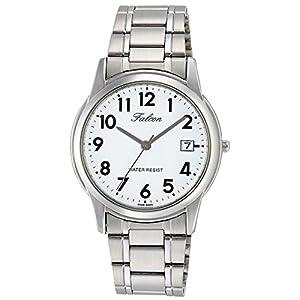 [シチズン キューアンドキュー]CITIZEN Q&Q 腕時計 Falcon ファルコン アナログ ブレスレット 日付 表示 ホワイト D010-204 メンズ