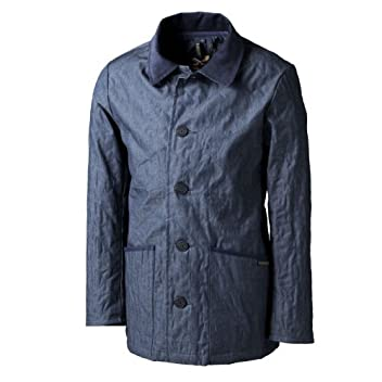 Denim Quilted Jacket: Indigo