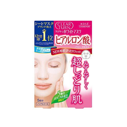 KOSE コーセー クリアターン ホワイト マスク HA (ヒアルロン酸) 5枚 フェイスマスク