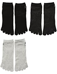 (ミズノ)MIZUNO メンズショート丈ソックス 紳士 五本指靴下 3足組 お買い得 強くて丈夫 大きいサイズ スポ