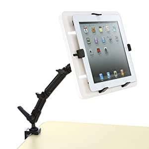 サンワダイレクト iPad・タブレットPCアームスタンド iPad Air 2 /iPad mini 4 対応 100-MR043