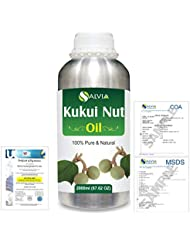 Kukui Nut (Aleurites Moluccans) Natural Pure Undiluted Uncut Carrier Oil 2000ml/67 fl.oz.