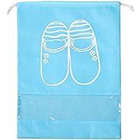 ゴシレ Gosear 10個 多機能 ポータブル 防水 空気透過性 靴 収納袋 靴袋 ポケット 旅行用 ホーム用 サイズ M 濃い青色