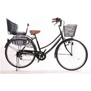 Lupinusルピナス 自転車 26インチ LP-266UD-KNR-B 軽快車 シマノ外装6段ギア ダイナモライト 後子乗せブラック (グリーン)