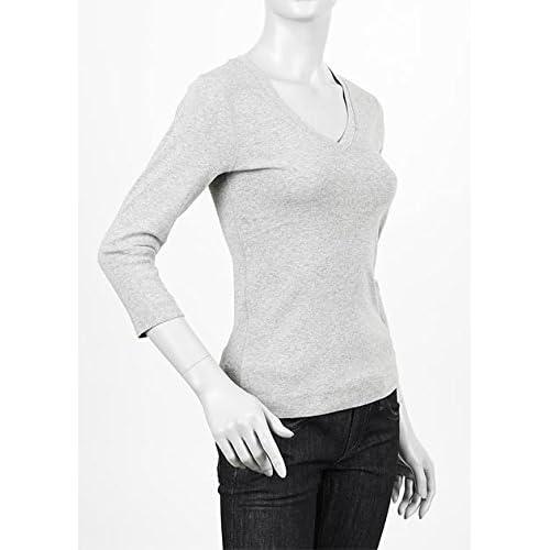 (スリードッツ) three dots Vネック七分袖Tシャツ Lサイズ GRANITE [並行輸入品]