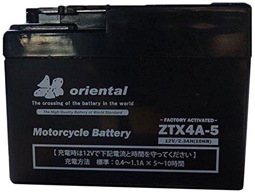Oriental [ オリエンタル ] 密閉型[シールド型] バイク用バッテリー ZTX4A-5