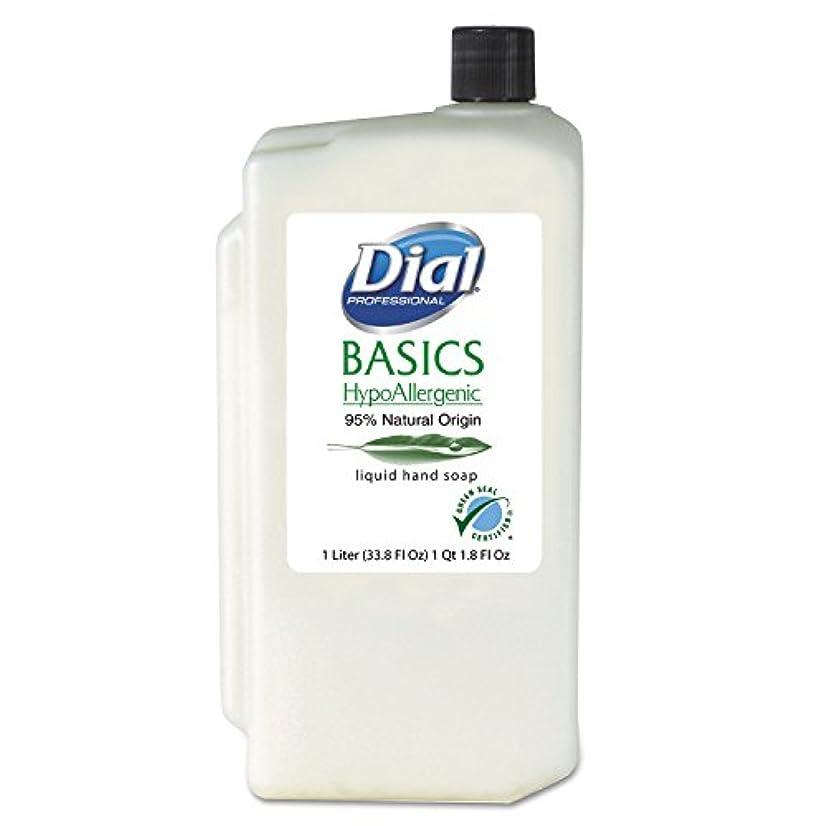 こだわりアクセスできない引数DIA06046 - Basics Hypoallergenic Liquid Soap, Rosemary amp; Mint, 1 Liter Refill by Dial
