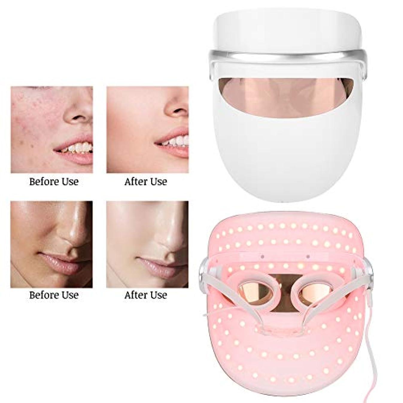 夕食を食べるストレステレビ皮の若返りLED装置、3色LEDライト顔のスキンケアの美装置、反老化はフェイスマスクを明るくします