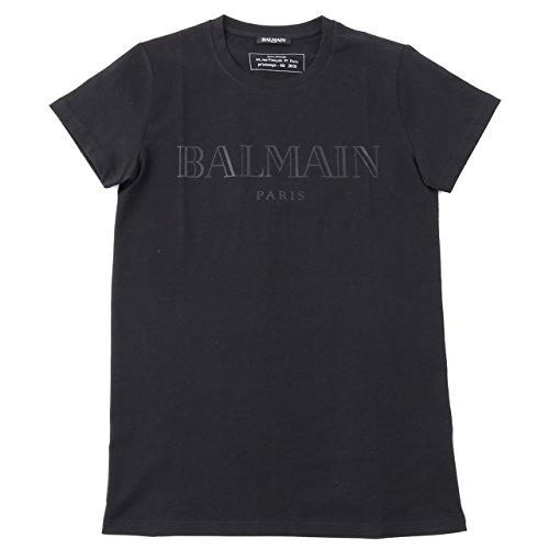 BALMAIN バルマン S8H 8601 I157 クルーネック 半袖 Tシャツ カットソー ロゴT 丸首 176/NOIR-BLACK 176/NOIR-BLACK M [並行輸入品]