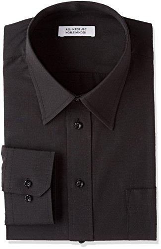 (アトリエサンロクゴ) atelier365 紺ワイシャツ 黒ワイシャツ 長袖ワイシャツ メンズ ワイシャツ Yシャツ ドレスシャツ ワイシャツ 無地 ワイシャツ カッターシャツ 制服 y9-7-9-1 y9-7-9-1-M-39-82-black-r ブラック-レギュラー M