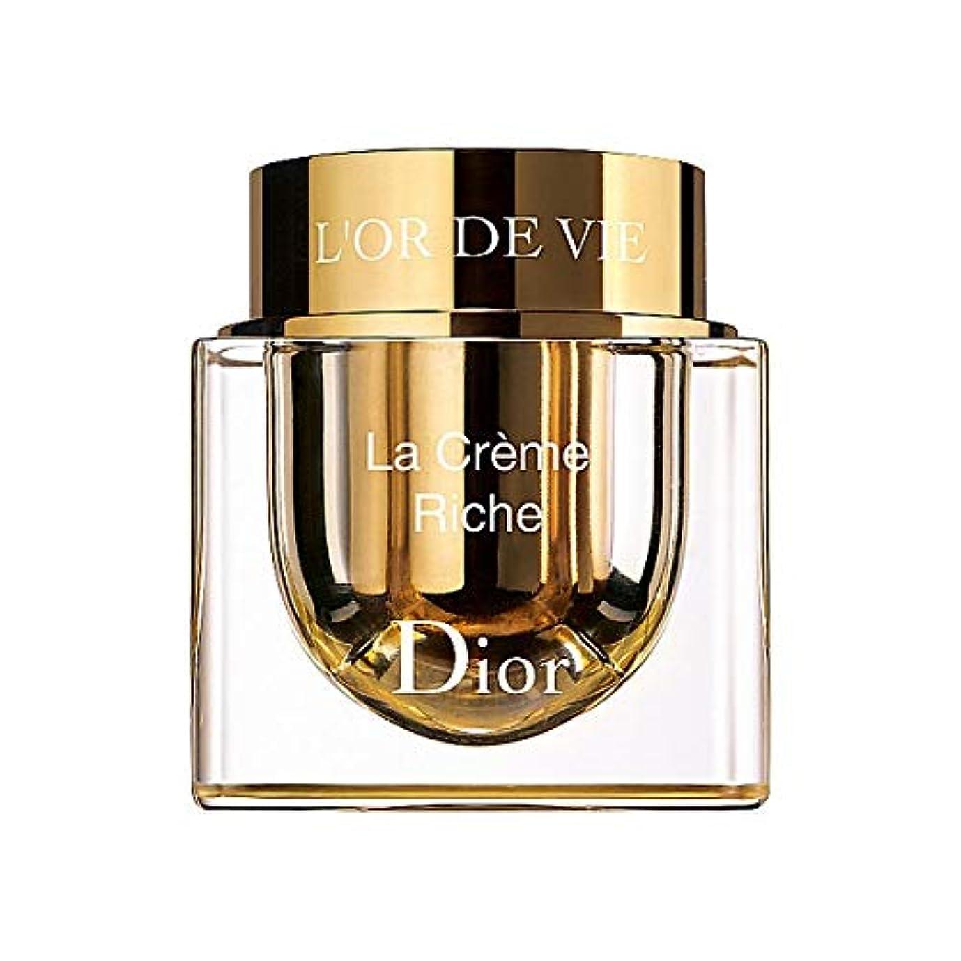 連鎖最近徐々に[Dior] ディオールL'またはデは、詰め替え可能な豊富なラ?クレームを争います - Dior L'Or De Vie La Cr?me Rich Refillable [並行輸入品]