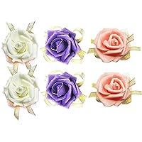 AIEDE Handmade Rose Wrist Corsage Wristband Wedding Bridal Women Girl Bridesmaid Romantic Wrist Flower Lace Wrist Band