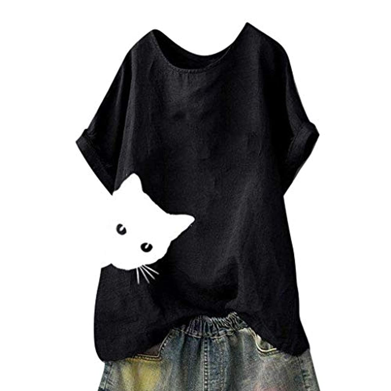 トランザクションプログラムクレデンシャルメンズ Tシャツ 可愛い ねこ柄 白t ストライプ模様 春夏秋 若者 気質 おしゃれ 夏服 多選択 猫模様 カジュアル 半袖 面白い 動物 ゆったり シンプル トップス 通勤 旅行 アウトドア tシャツ 人気
