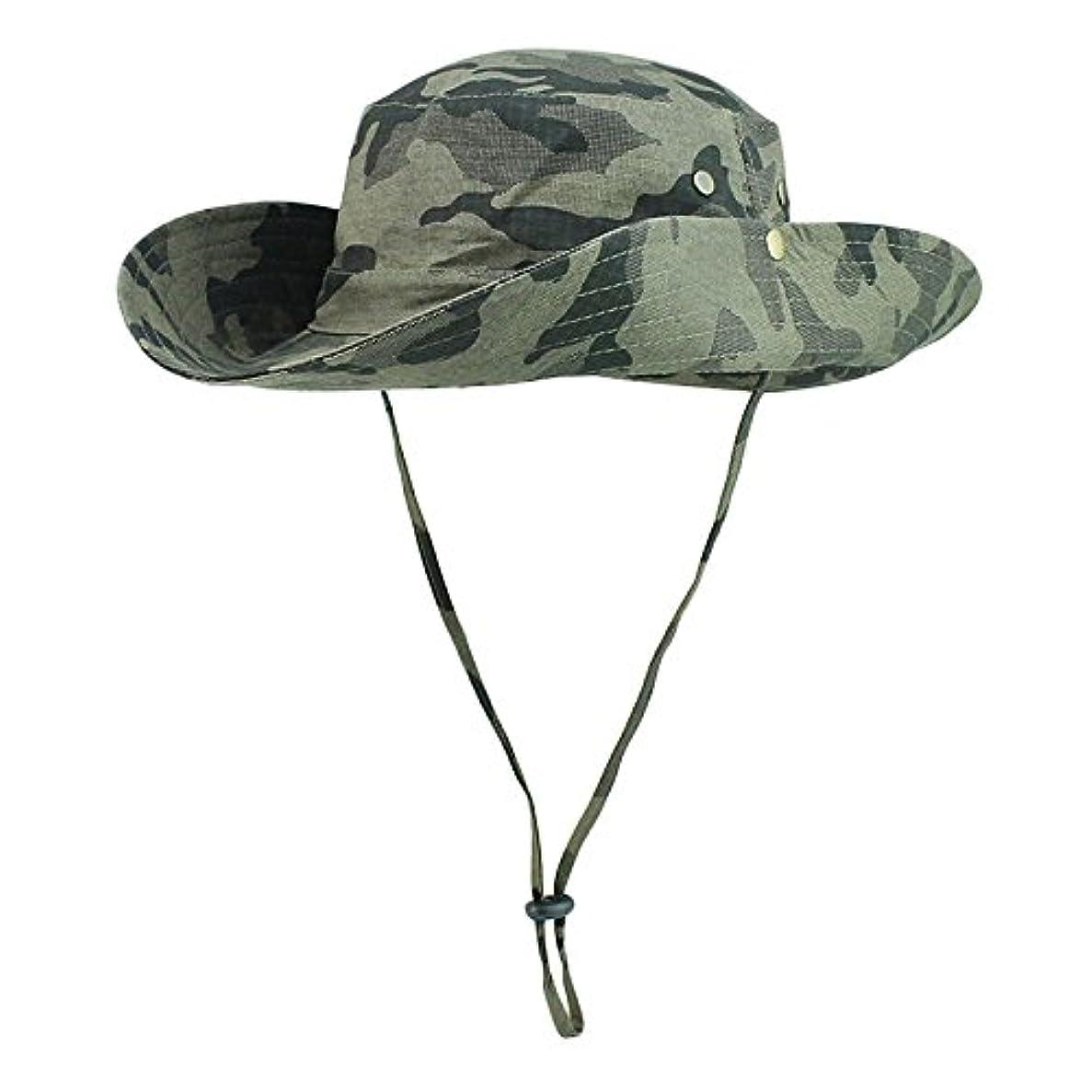 サラダ解説影のあるEDTara 防水帽子 幅広つば 通気性 ハンティング 釣り サンハット 調節可能 カモフラージュ 軽量 UV保護 帽子