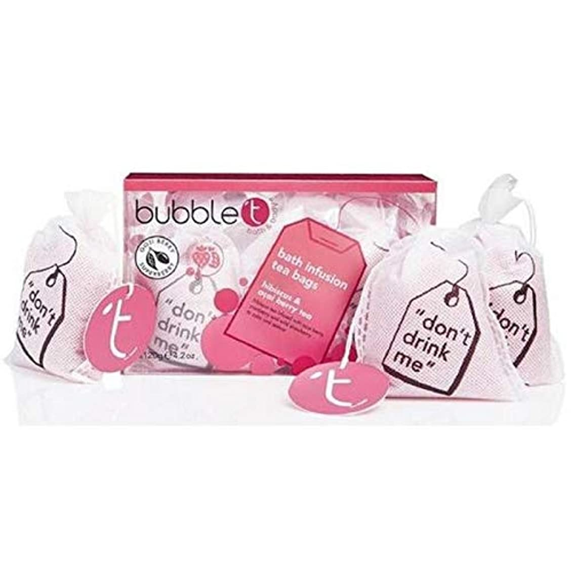 ジャーナリスト電気の居住者[BUBBLE T] バブルトンハイビスカス&アサイベリー風呂輸液トンバッグ - Bubble T Hibiscus & Acai Berry Bath Infusion T-Bags [並行輸入品]