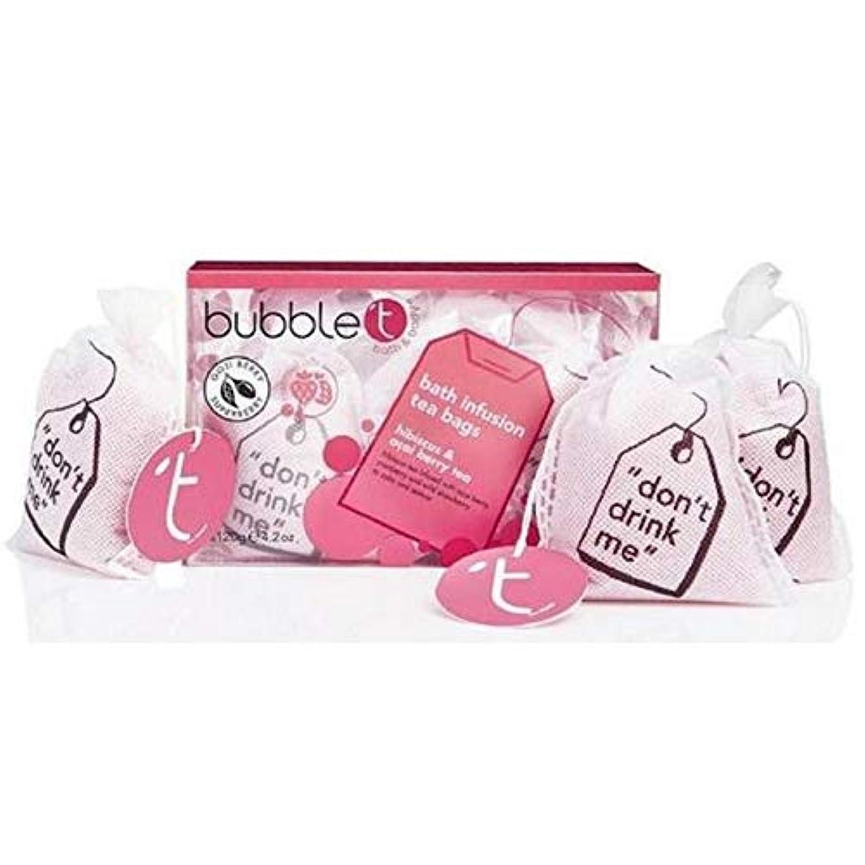 鉄道駅コールプライム[BUBBLE T] バブルトンハイビスカス&アサイベリー風呂輸液トンバッグ - Bubble T Hibiscus & Acai Berry Bath Infusion T-Bags [並行輸入品]