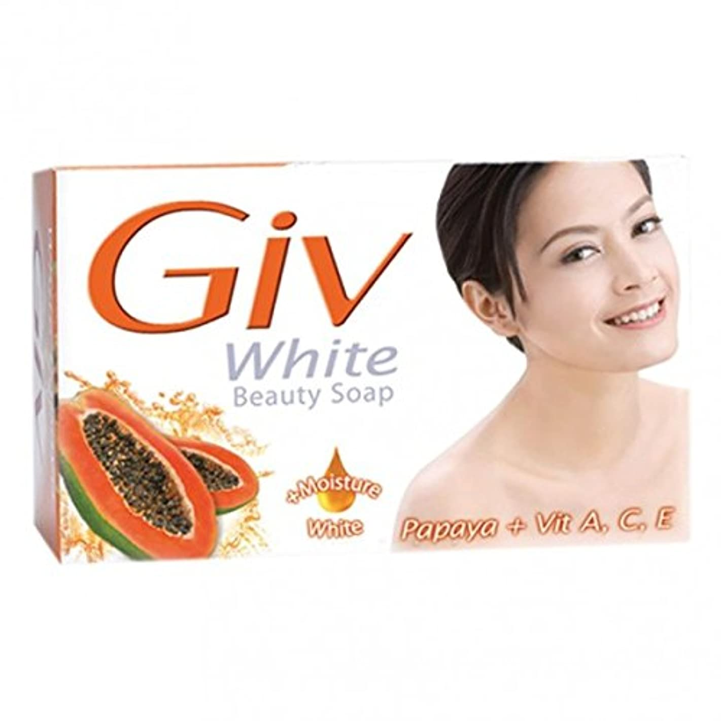 GIV ホワイト美容石鹸パパイヤ、80グラム5(パック