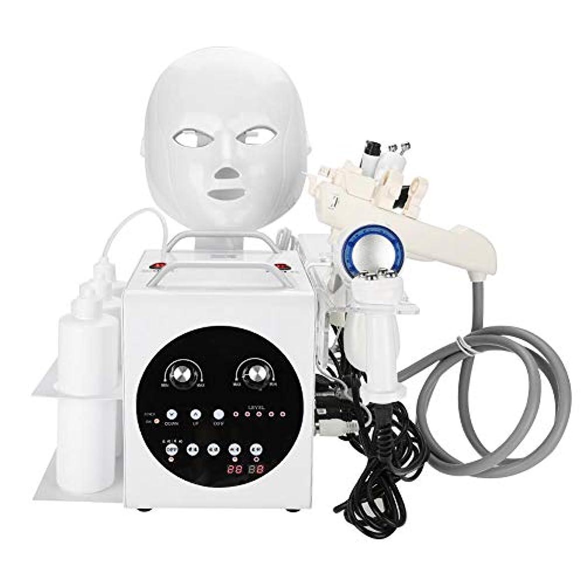 パークアジャテキスト9黒毛のしわの除去、肌の引き締め、美白、肌の若返り、ホームサロンの使用のためのケアの超音波真空RF機械をきつく締める1つの酸素のジェット機に付き9つ(110-240V)