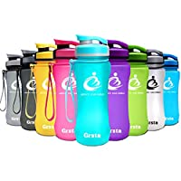 Grsta ボトル 水筒 ウォーターボトル アウトドアボトル スポーツボトル- 600ml 800ml 1000ml 自転車 大人 子ども アウトドア スポーツ 登山用 プラスチック製 直飲み BPAフリー 漏れない 大容量 おしゃれ 携帯便利 運動用 全11色