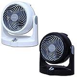 【セット販売】アイリスオーヤマ サーキュレーター 静音 固定 ~8畳 ホワイト PCF-HD15N-W & アイリスオーヤマ サーキュレーター 静音 固定 ~8畳 ブラック PCF-HD15N-B セット