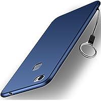 Huawei Honor Note 8 ケース [ソフト TPU シリコン ケース] [ストラップ付属] [落下 衝撃 吸収] 薄型 超軽量 手触り良い シルキー 全面保護カバー 落下防止ストリングホール付き(青)