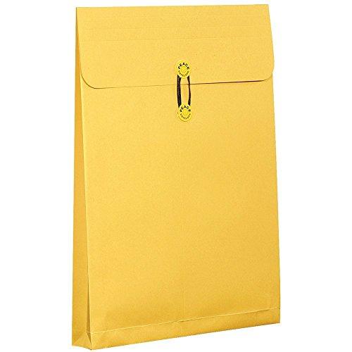 高春堂 ピース封筒 マチ付保存袋 A3マチヒモ付カーデックス 1枚入り A3マチ付 黄 ピースラッピング 132