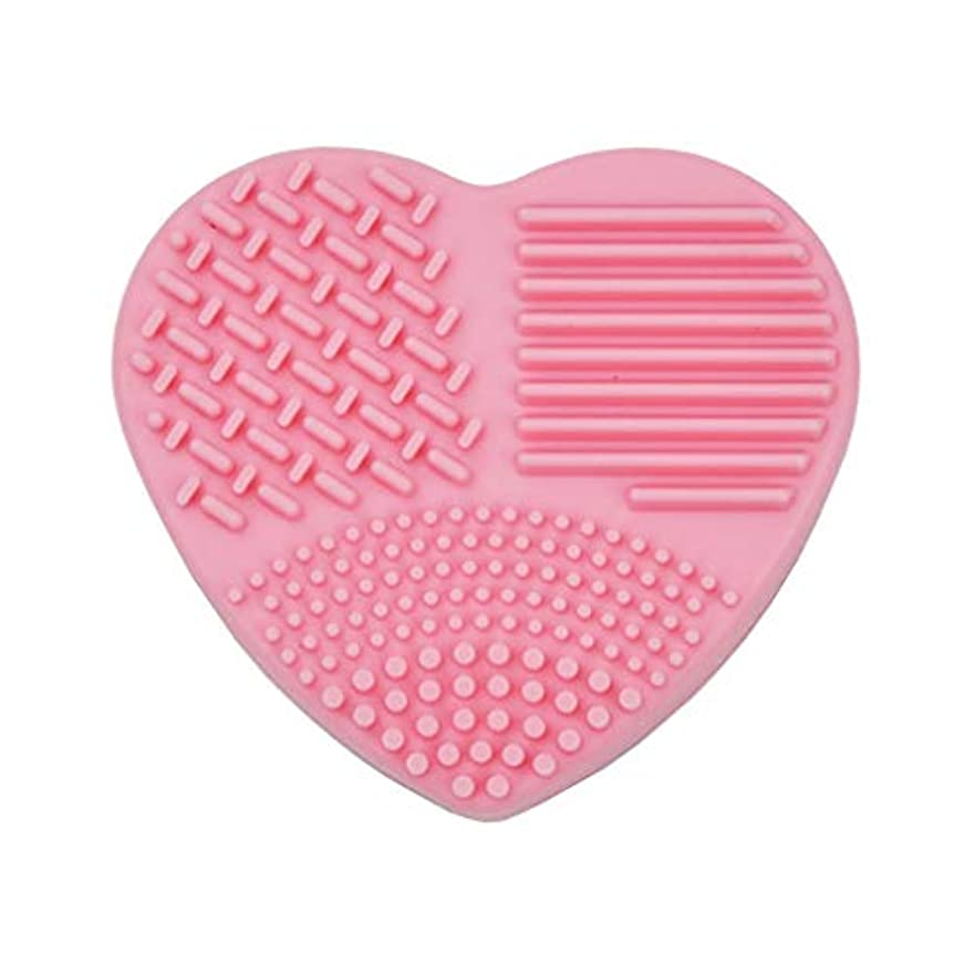 筋肉の生む悪いポータブルメイクブラシクリーナーパッドは、ブラシジェルクリーニングマットハンドツール財団メイクブラシスクラバーボックスを洗濯メイクアップ
