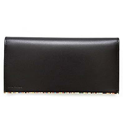 【保存箱付き】 ポールスミス Paul Smith 財布 長財布 メンズ レザー 本革 ブラック(黒)×マルチストライプ PSU056-990 [ウェア&シューズ]