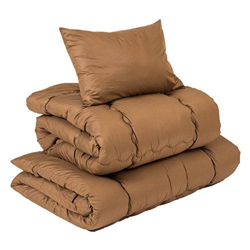 【柔らかくボリュームある布団3点セット】(シングルサイズ) 桃のような優しい肌触りが特徴 届いてすぐ使え...