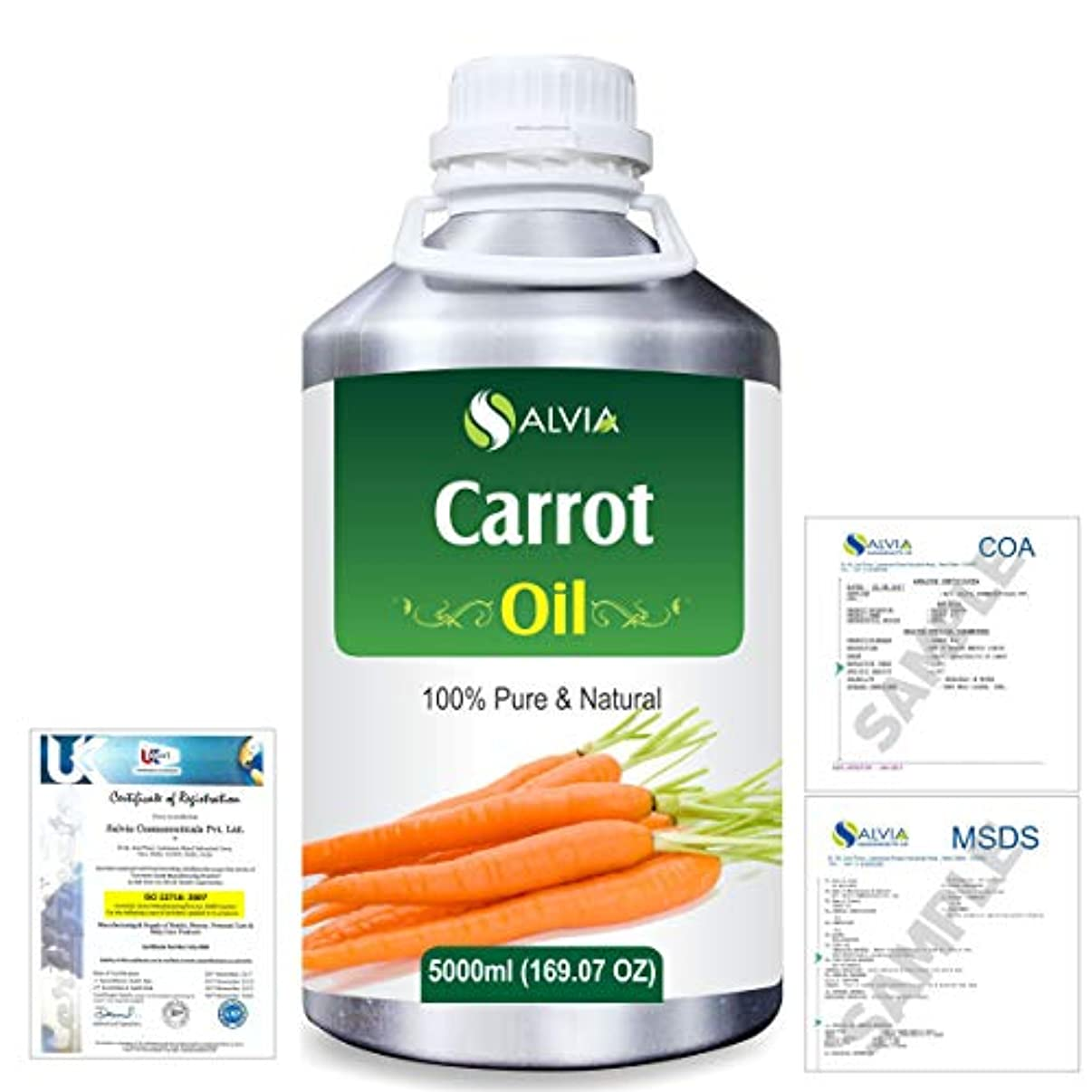 拒否振動する心理的にCarrot Oil (Ducus Carotta) 100% Natural Pure Essential Oil 5000ml/169fl.oz.