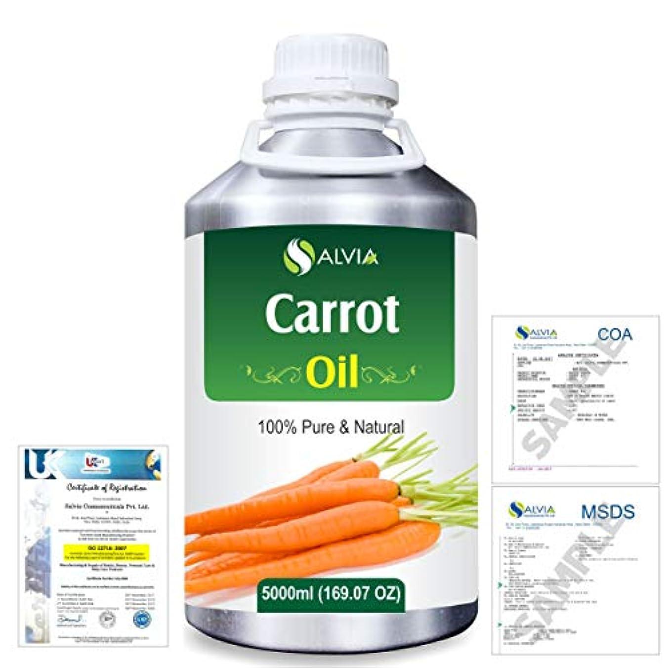 ポルトガル語突然の試験Carrot Oil (Ducus Carotta) 100% Natural Pure Essential Oil 5000ml/169fl.oz.