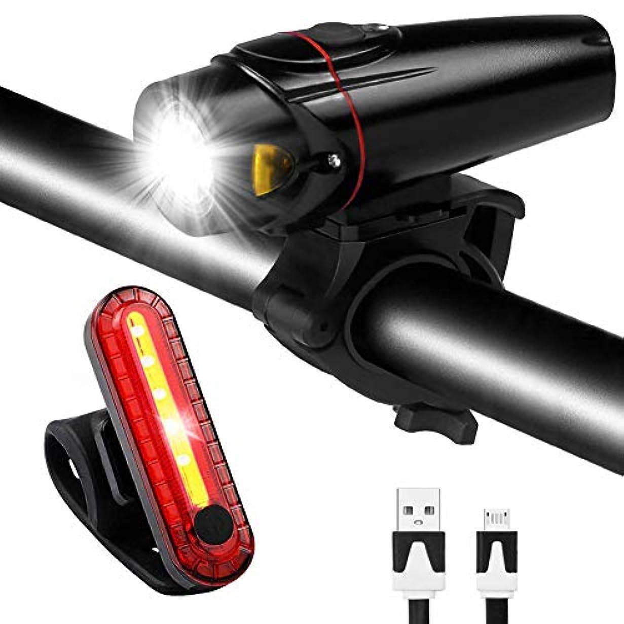 白菜ラフ忠実自転車用ライトヘッドライト警告灯マウンテンUSB充電ライト