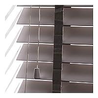 YJFENG ブラインドカーテン木材 防水、プライバシーと調光簡単インストール木目調の効果カスタマイズのサポート (Color : Gray, Size : 60x120cm)