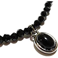 OVER RAG メンズネックレス ネックレス メンズ レディース カットオニキス ブラックスピネル風 クリアクリスタル 天然石 パワーストーン ネックレス(ブラックオニキス)