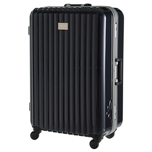 ベネトン レディース(UNITED COLORS OF BENETTON) 静走ラインキャリーバッグ・スーツケース(L)容量約80L 静音【ネイビー/FREE】