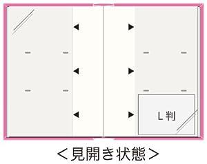 ナカバヤシ 背丸ポケットアルバム 240枚 リュバンフローラル L判 ピンク BPL-240-1-P
