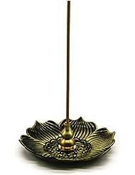 omonicブロンズLotus Dish Stick Incense Burnerホルダー(スティック/コーン/コイルIncense )アロマセラピー炉Diffuser forホームインテリア