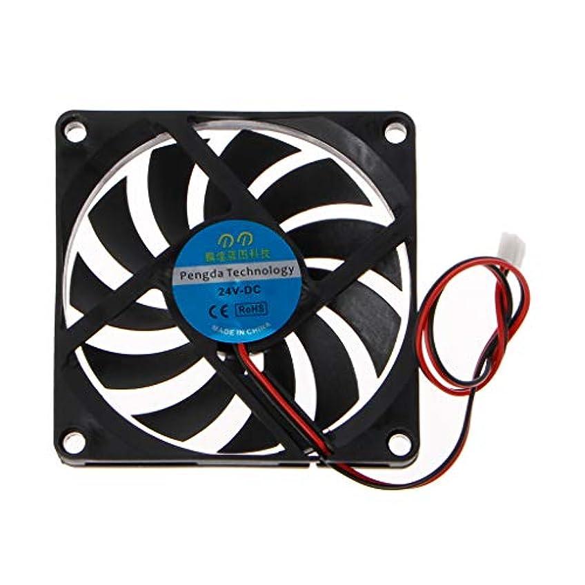ダルセットマトン回想Kofun 24V冷却ファン8010, 24V 2ピン80×80×10MmピースコンピュータCpuシステムヒートシンクブラシレス冷却ファン8010