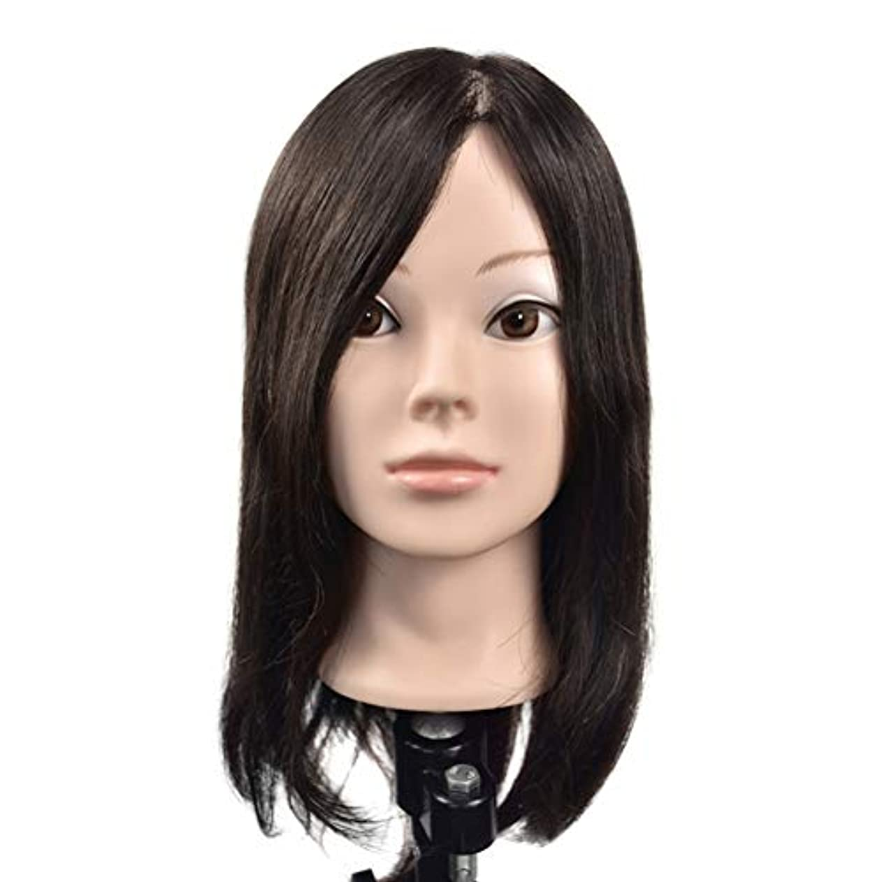 経由で稚魚劇的リアルヘアースタイリングモデルヘッド女性モデル頭ティーチングヘッド理髪店編組髪染め学習ダミーヘッド