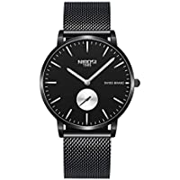NIBOSI Mens Watches Fashion Classic Luxury Waterproof Quartz Stainless Steel Wrist Watch for Men