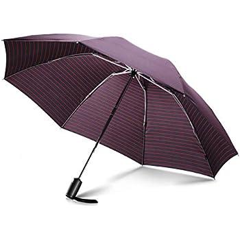 Leebotree 折りたたみ傘 ワンタッチ自動開閉 レディース メンズ 逆折り式 高強度8本骨 超撥水性 遮光遮熱 晴雨兼用 軽量 大きい 折り畳み傘 雨傘 梅雨対策(ストライプ)